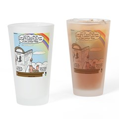 Rainbow: God's Sticky Note Drinking Glass