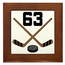 Hockey Player Number 63 Framed Tile