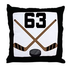 Hockey Player Number 63 Throw Pillow