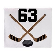 Hockey Player Number 63 Throw Blanket
