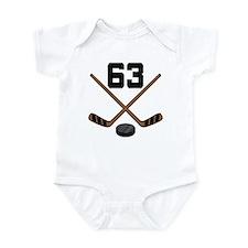 Hockey Player Number 63 Infant Bodysuit
