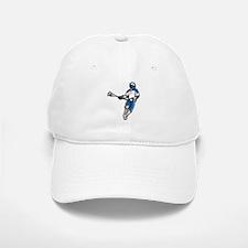 Blue Lacrosse Player Baseball Baseball Cap