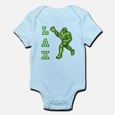 Green LAX Player Infant Bodysuit