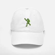 Green Lacrosse Player Baseball Baseball Cap