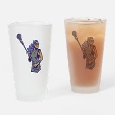 Female Lacrosse Player Drinking Glass