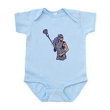 Female Lacrosse Player Infant Bodysuit
