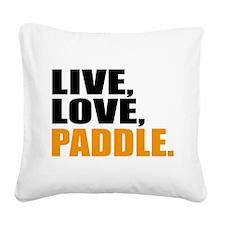 kayak Square Canvas Pillow