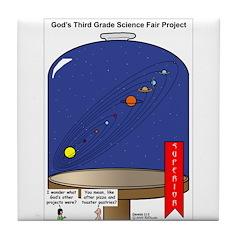 God's Science Fair Exhibit Tile Coaster