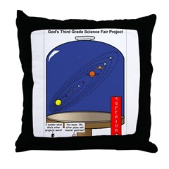 God's Science Fair Exhibit Throw Pillow