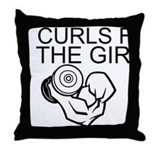 Curls For The Girls Throw Pillow