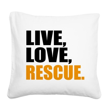 rescue Square Canvas Pillow