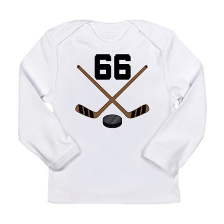 Hockey Player Number 66 Long Sleeve Infant T-Shirt