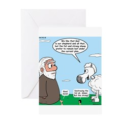 Fat Sheep Protest Greeting Card