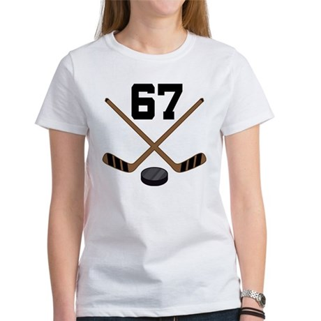 Hockey Player Number 67 Women's T-Shirt