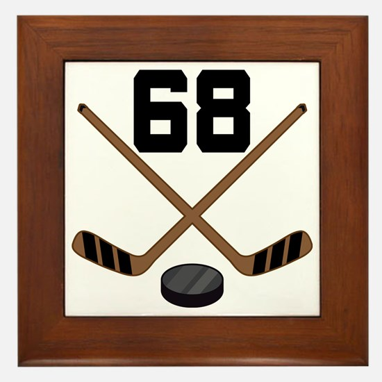 Hockey Player Number 68 Framed Tile