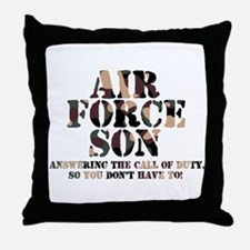 AF Son Answering Throw Pillow