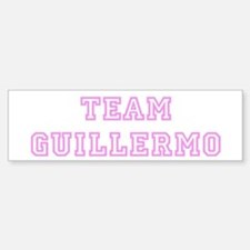Pink team Guillermo Bumper Bumper Bumper Sticker