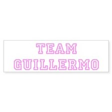 Pink team Guillermo Bumper Bumper Sticker