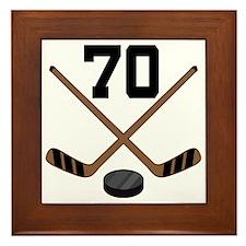 Hockey Player Number 70 Framed Tile