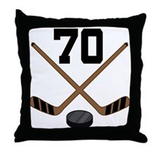 Hockey Player Number 70 Throw Pillow