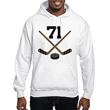 Hockey Player Number 71 Hoodie