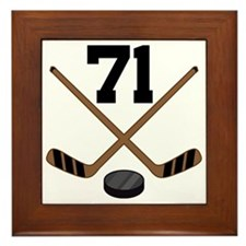 Hockey Player Number 71 Framed Tile