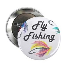 "Fly Fishing 2.25"" Button"