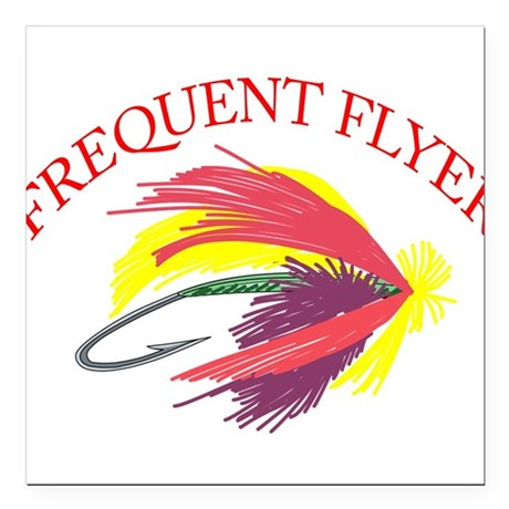 """Frequent Flyer Square Car Magnet 3"""" x 3"""""""