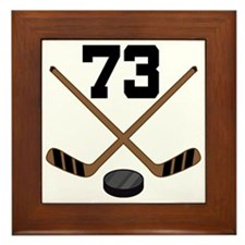 Hockey Player Number 73 Framed Tile