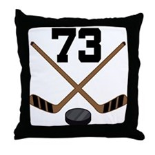 Hockey Player Number 73 Throw Pillow