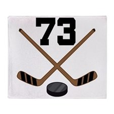 Hockey Player Number 73 Throw Blanket