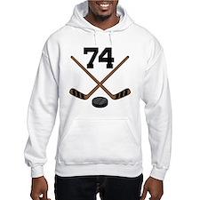 Hockey Player Number 74 Hoodie