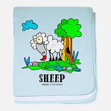Cute Cartoon sheep baby blanket