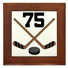 Hockey Player Number 75 Framed Tile