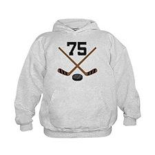 Hockey Player Number 75 Hoodie