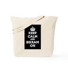 Keep Calm and Bikram On Tote Bag