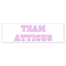 Pink team Atticus Bumper Bumper Sticker