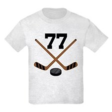 Hockey Player Number 77 T-Shirt