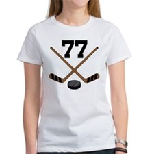Hockey Player Number 77 Tee