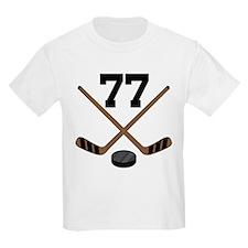 Hockey Player Number 77 T-Shirt