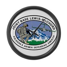 Joint Base Lewis-McChord Large Wall Clock