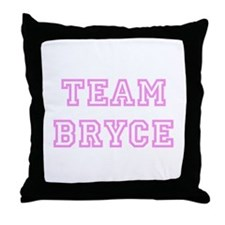 Pink team Bryce Throw Pillow