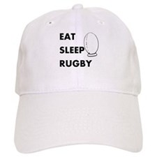 Eat Sleep Rugby Baseball Cap