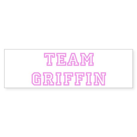 Pink team Griffin Bumper Sticker