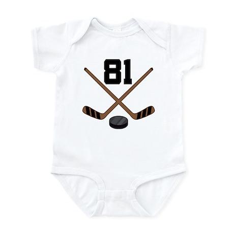 Hockey Player Number 81 Infant Bodysuit