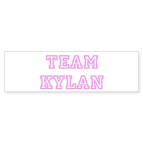 Pink team Kylan Bumper Sticker