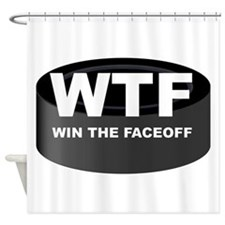 Win The Faceoff Shower Curtain