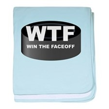 Win The Faceoff baby blanket