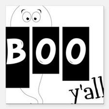 """Boo 'Yall Square Car Magnet 3"""" x 3"""""""