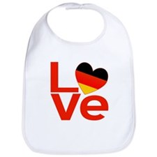 Red German LOVE Bib